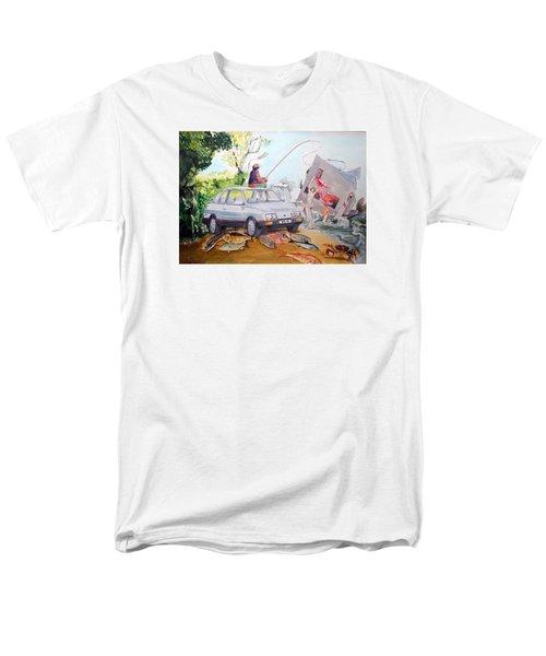 Gift Listen With Music Of The Description Box Men's T-Shirt  (Regular Fit) by Lazaro Hurtado