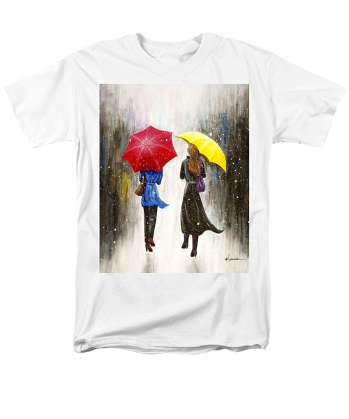 Men's T-Shirt  (Regular Fit) featuring the painting Girlfriends by Kume Bryant