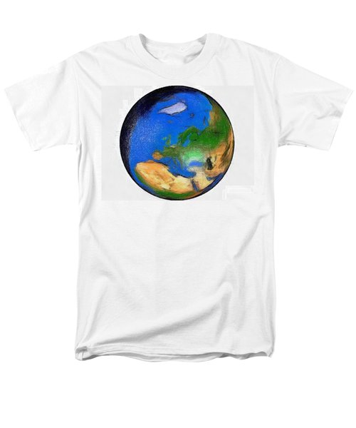 Men's T-Shirt  (Regular Fit) featuring the painting Globe 3d Picture by Georgi Dimitrov