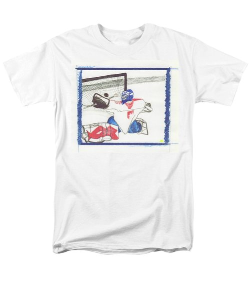 Men's T-Shirt  (Regular Fit) featuring the drawing Goalie By Jrr by First Star Art