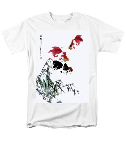 Men's T-Shirt  (Regular Fit) featuring the painting Gold Fish by Yufeng Wang