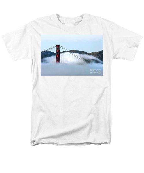 Golden Gate Bridge Clouds Men's T-Shirt  (Regular Fit)