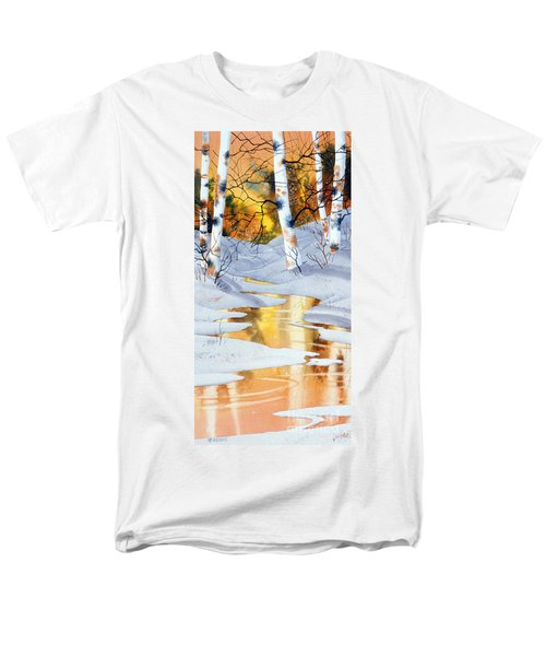 Men's T-Shirt  (Regular Fit) featuring the painting Golden Winter by Teresa Ascone