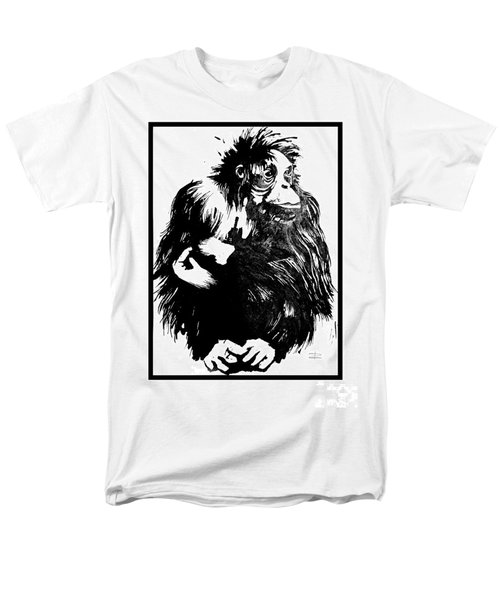 Men's T-Shirt  (Regular Fit) featuring the drawing Gorilla Ina Box by Paul Davenport