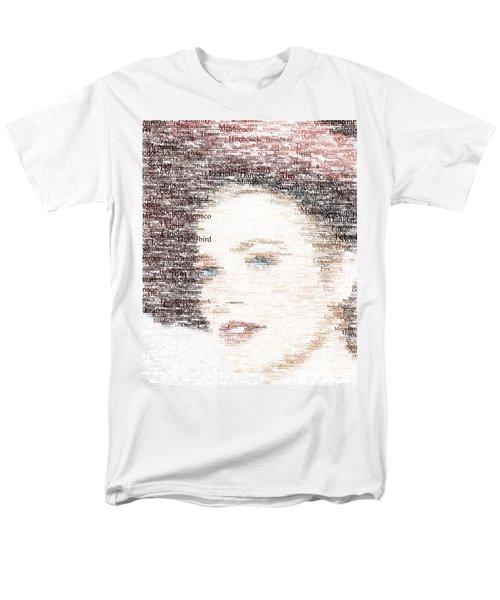 Grace Kelly Typo Men's T-Shirt  (Regular Fit) by Taylan Apukovska