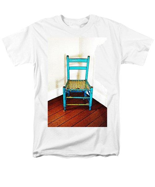 Granular Blue Men's T-Shirt  (Regular Fit)
