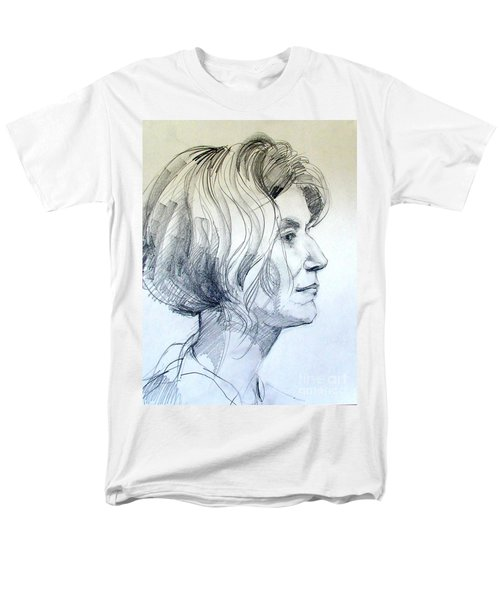 Portrait Drawing Of A Woman In Profile Men's T-Shirt  (Regular Fit) by Greta Corens