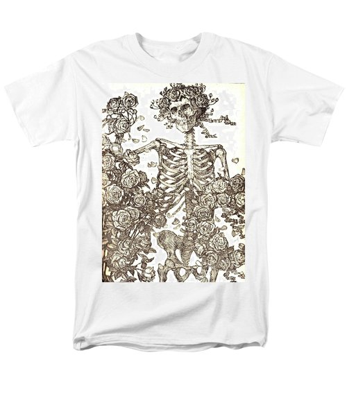 Men's T-Shirt  (Regular Fit) featuring the photograph Gratefully Dead Skeleton by Kelly Awad