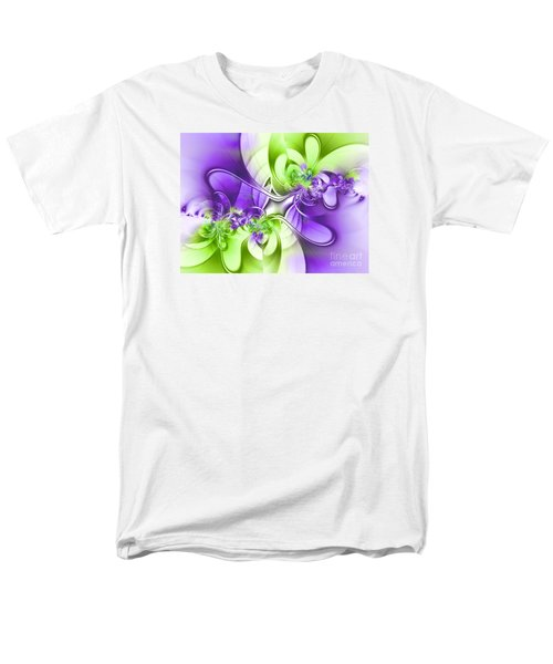 Green And Purple Men's T-Shirt  (Regular Fit) by Lena Auxier