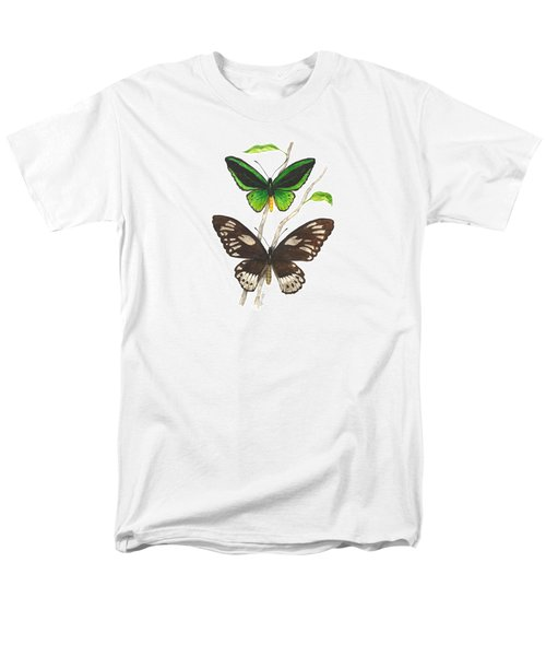 Green Birdwing Butterfly Men's T-Shirt  (Regular Fit) by Cindy Hitchcock