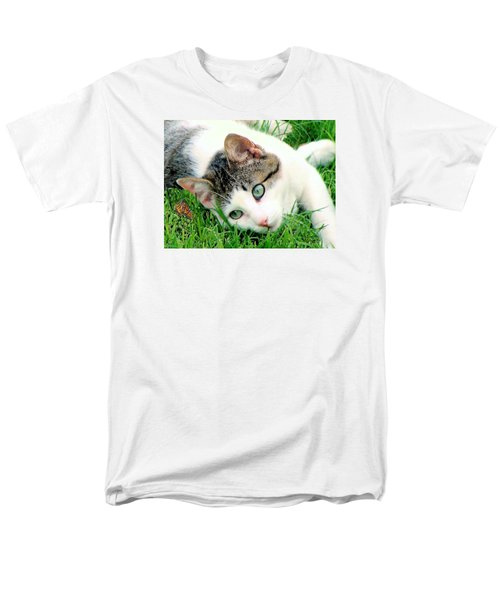 Men's T-Shirt  (Regular Fit) featuring the photograph Green Eyed Cat by Janette Boyd