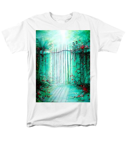 Green Skeleton Gate Men's T-Shirt  (Regular Fit) by Heather Calderon