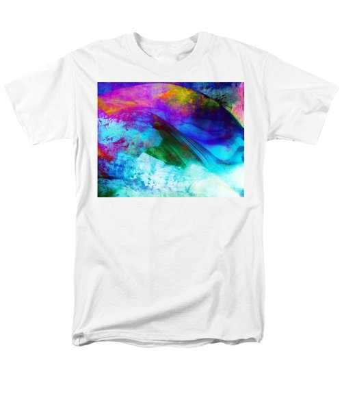 Men's T-Shirt  (Regular Fit) featuring the painting Green Wave - Vibrant Artwork by Lilia D