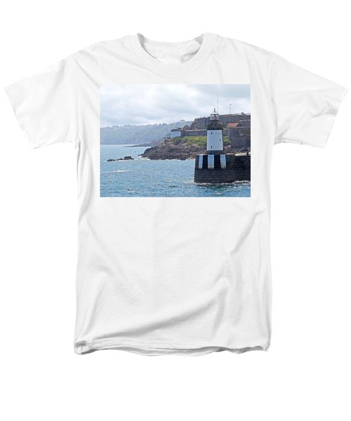Guernsey Lighthouse Men's T-Shirt  (Regular Fit) by Gill Billington