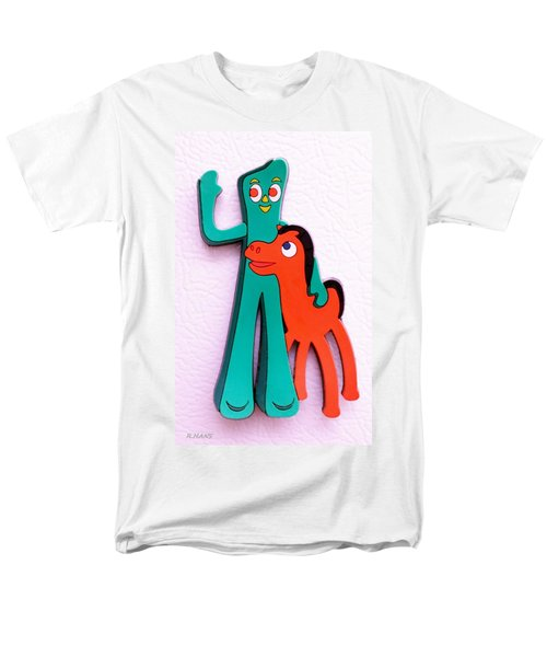 Gumby And Pokey B F F Men's T-Shirt  (Regular Fit) by Rob Hans