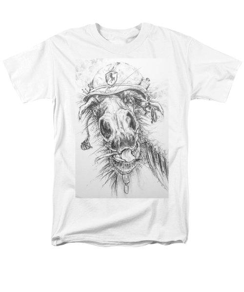 Hair-ied Horse Soilder Men's T-Shirt  (Regular Fit) by Scott and Dixie Wiley