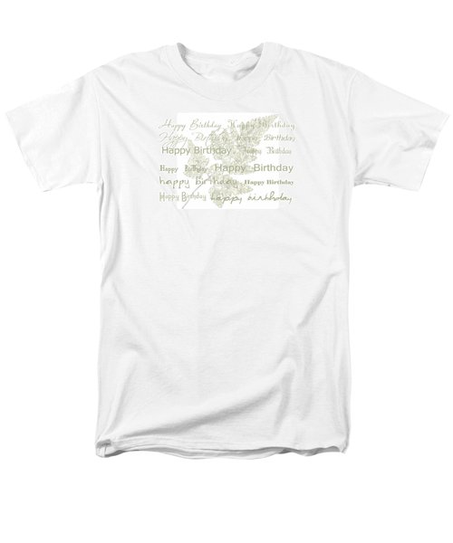Men's T-Shirt  (Regular Fit) featuring the photograph Happy Birthday Card by Sandra Foster