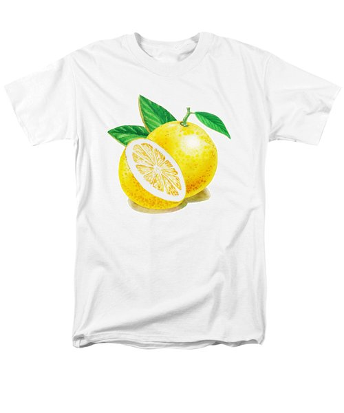 Men's T-Shirt  (Regular Fit) featuring the painting Happy Grapefruit- Irina Sztukowski by Irina Sztukowski