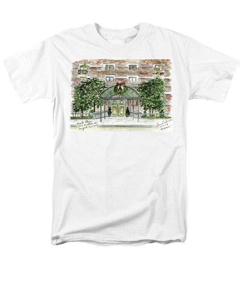 Happy Holidays At 1919 Madison Avenue In Harlem Men's T-Shirt  (Regular Fit) by AFineLyne