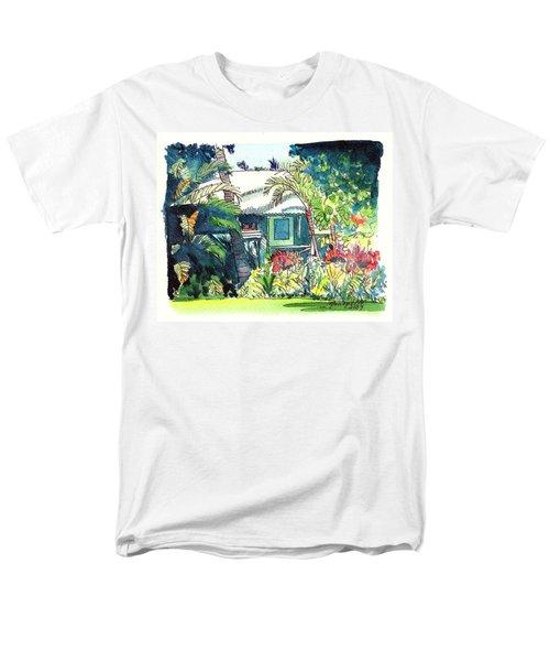 Hawaiian Cottage 3 Men's T-Shirt  (Regular Fit) by Marionette Taboniar