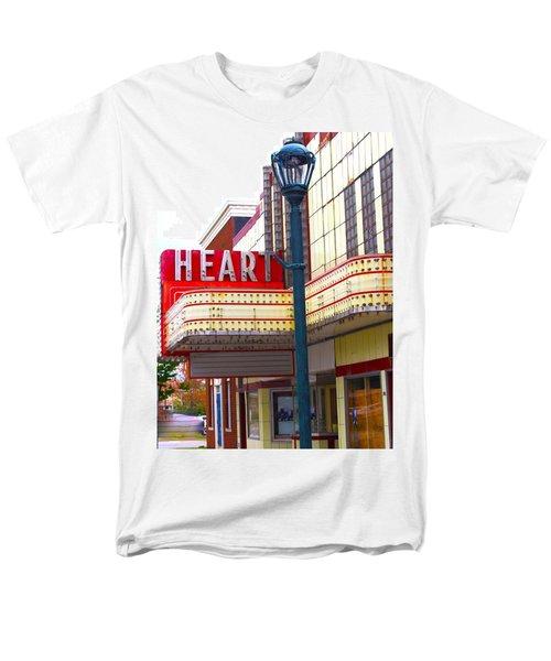 Heart Theatre Effingham Illinois  Men's T-Shirt  (Regular Fit) by Suzanne Lorenz