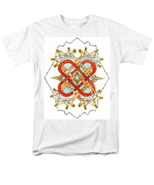 Hebrew Words For Love Men's T-Shirt  (Regular Fit) by Hidden  Mountain