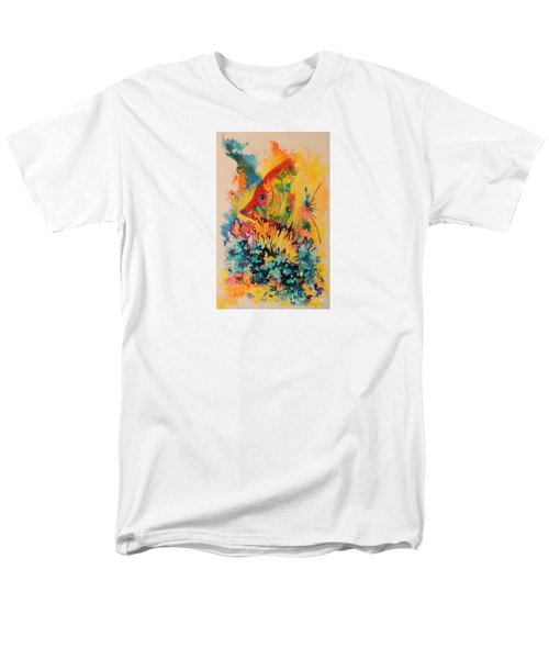 Men's T-Shirt  (Regular Fit) featuring the painting Hiding Amongst The Coral by Lyn Olsen