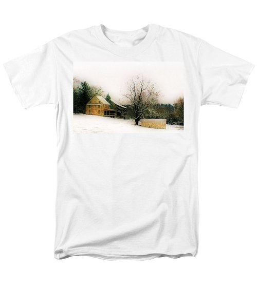 Men's T-Shirt  (Regular Fit) featuring the photograph Historic 1700's Farmhouse by Polly Peacock