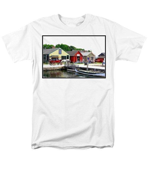 Historic Mystic Seaport Men's T-Shirt  (Regular Fit) by Dora Sofia Caputo Photographic Art and Design