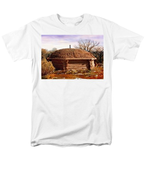 Hogan Monument Valley Winter Painting Men's T-Shirt  (Regular Fit) by Bob and Nadine Johnston