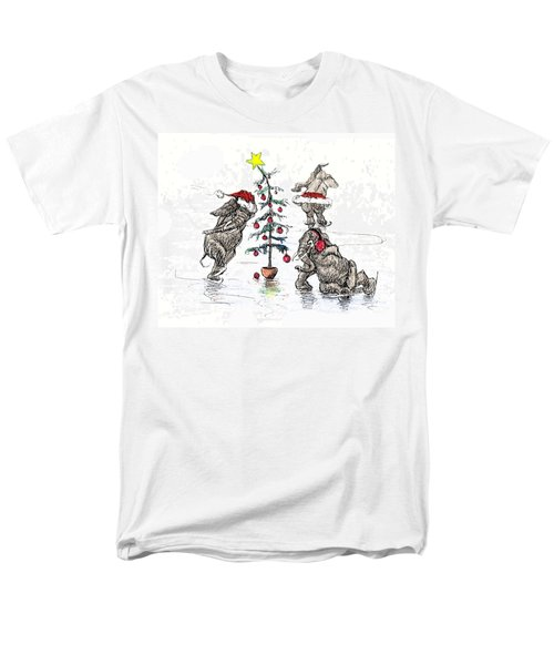 Holiday Ice Men's T-Shirt  (Regular Fit) by Donna Tucker