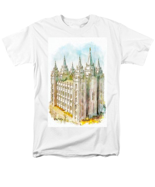 Men's T-Shirt  (Regular Fit) featuring the painting Holiness To The Lord by Greg Collins