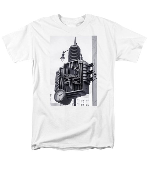 Hollywood Landmarks - Hollywood And Vine Sign Men's T-Shirt  (Regular Fit) by Art Block Collections