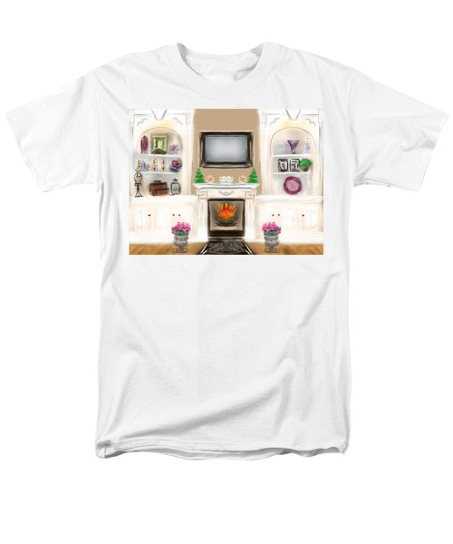 Men's T-Shirt  (Regular Fit) featuring the digital art Home For The Holidays by Christine Fournier