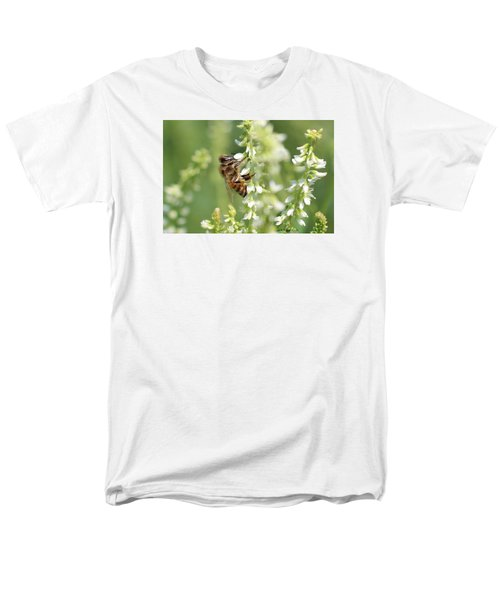 Honeybee On Sweet Clover Men's T-Shirt  (Regular Fit) by Lucinda VanVleck