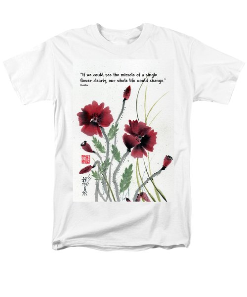 Men's T-Shirt  (Regular Fit) featuring the painting Honor With Buddha Quote I by Bill Searle