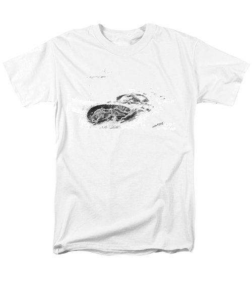 Men's T-Shirt  (Regular Fit) featuring the drawing Hoof Prints by Marianne NANA Betts