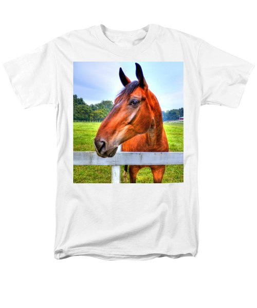Men's T-Shirt  (Regular Fit) featuring the photograph Horse Closeup by Jonny D
