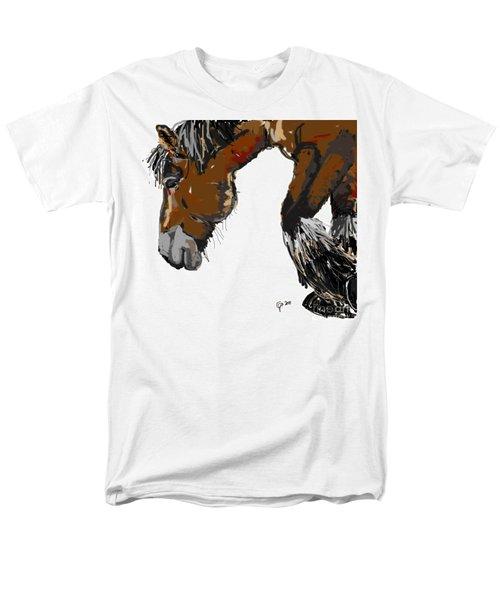 Men's T-Shirt  (Regular Fit) featuring the painting horse - Guus by Go Van Kampen