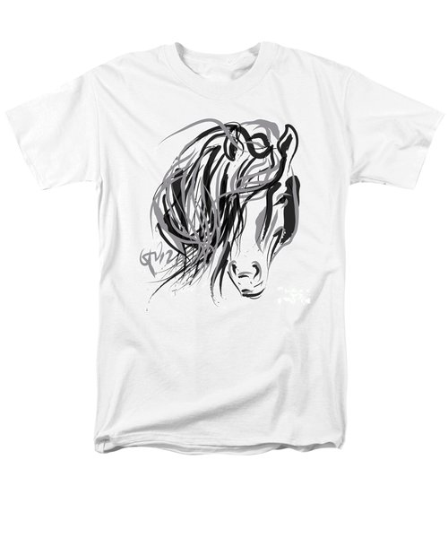 Horse- Hair And Horse Men's T-Shirt  (Regular Fit) by Go Van Kampen