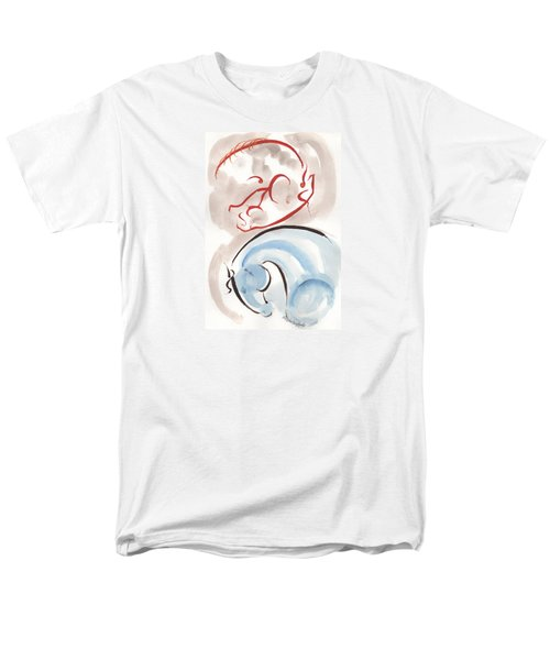Horse In Simplicity Men's T-Shirt  (Regular Fit) by Mary Armstrong