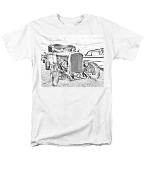 Hot Rod Faux Sketch Men's T-Shirt  (Regular Fit)