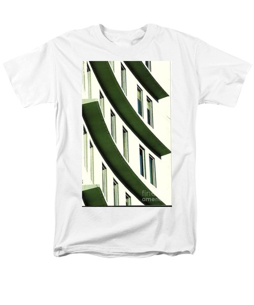 Men's T-Shirt  (Regular Fit) featuring the photograph Hotel Ledges Of A New Orleans Louisiana Hotel by Michael Hoard