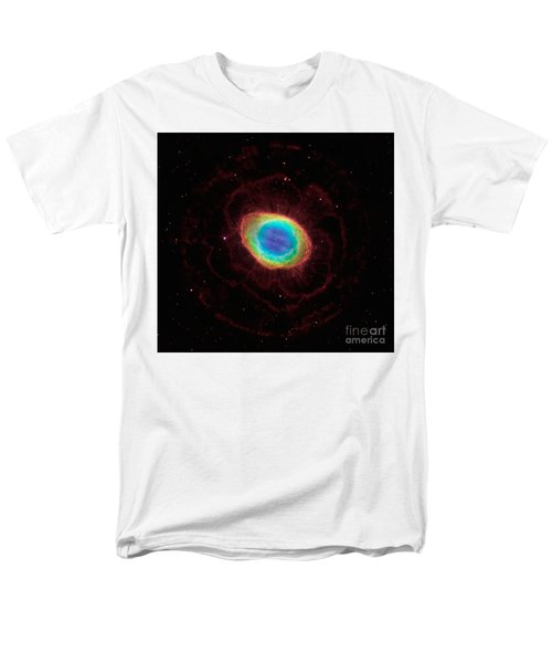 Men's T-Shirt  (Regular Fit) featuring the  Hubble Reveals The Ring Nebulas True Shape by Paul Fearn