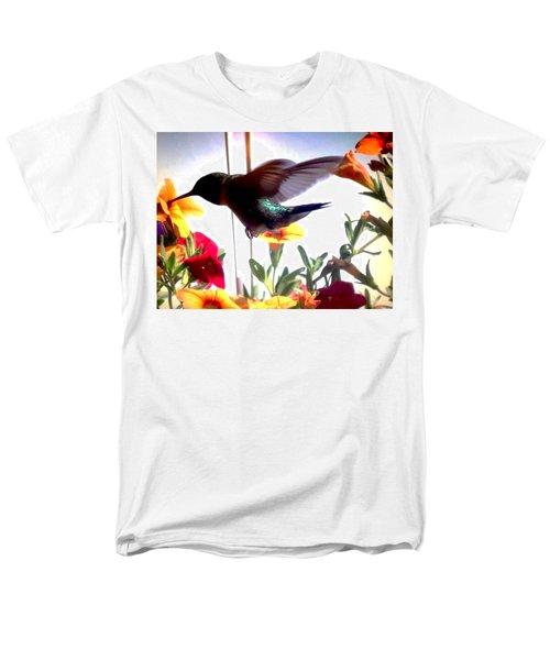 Hummingbird Men's T-Shirt  (Regular Fit) by Renee Michelle Wenker