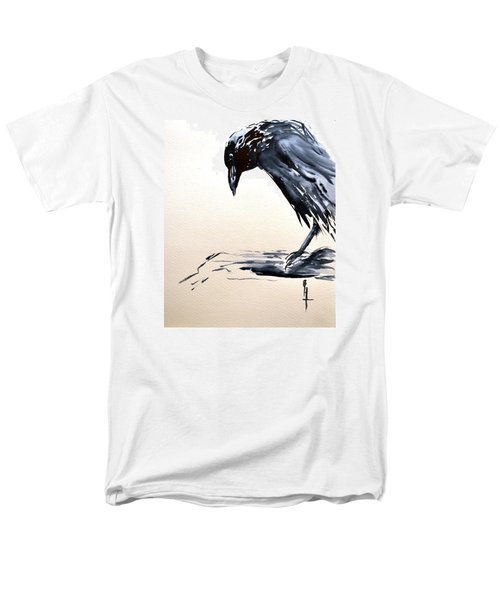 Men's T-Shirt  (Regular Fit) featuring the painting I Am A Crow by Beverley Harper Tinsley