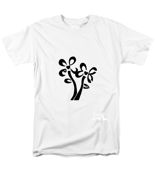 Men's T-Shirt  (Regular Fit) featuring the drawing I Love You Flowers by Tamir Barkan