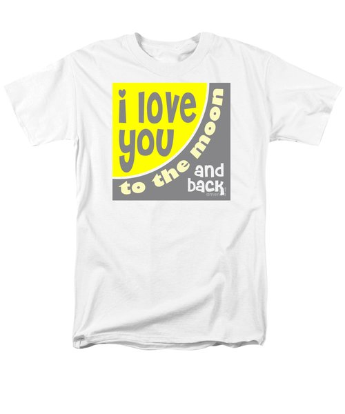 I Love You To The Moon Men's T-Shirt  (Regular Fit) by Ginny Gaura