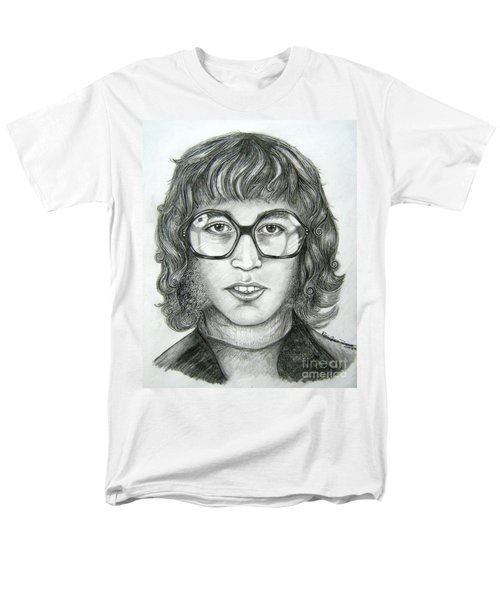Men's T-Shirt  (Regular Fit) featuring the drawing Robin Gibb by Patrice Torrillo
