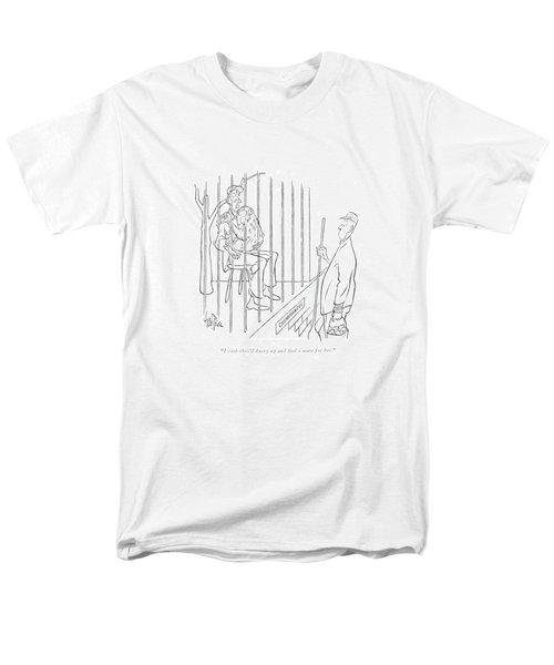 I Wish They'd Hurry Up And ?nd A Mate For Her Men's T-Shirt  (Regular Fit) by George Price